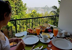 A breakfast with a view