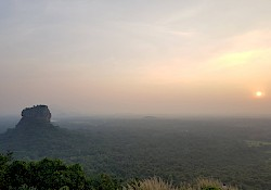 Sunset from Pidurungala rock, with views to the Lion rock