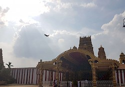 The Nallur temple, where men must go inside with the upper body uncovered