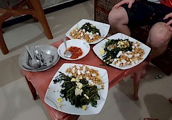 Food made with (mainly by) our host in Vihansha guesthouse