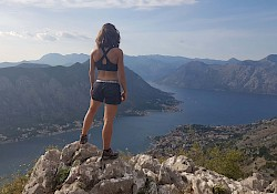 On top of the world. Well, the Ladder of Kotor, but felt almost the same.