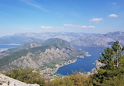 Views of the Kotor bay from the serpentine.
