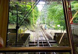 The cable car to Koyasan