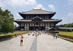 Tōdai-ji, as big as it is, it used to be a third bigger!