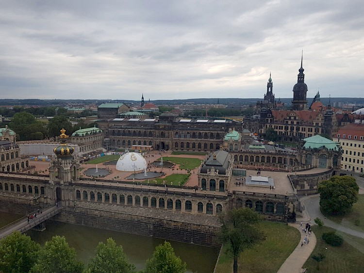 Zwinger garden from above