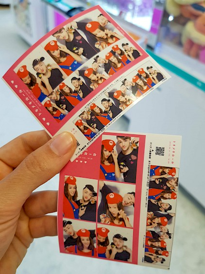 Purikura machines print very cute pictures.