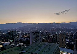 Sunset over (a part of) Medellín